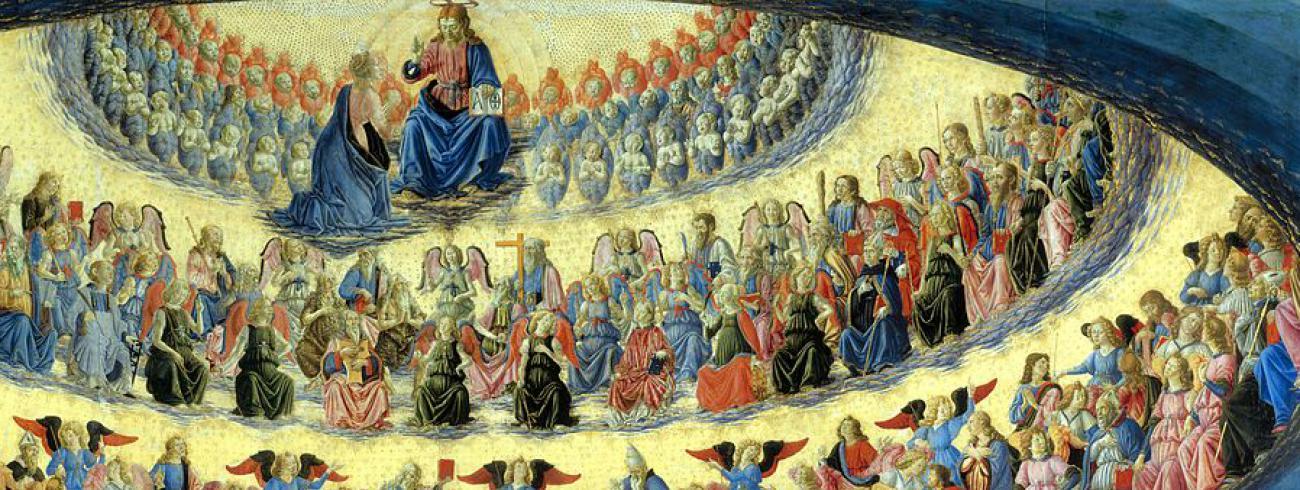 Francesco Botticini - de tenhemelopneming van Maria © wikipedia