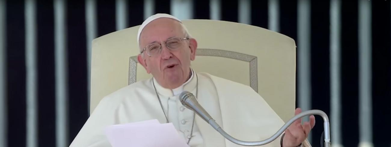 Paus Franciscus tijdens zijn catechese op de algemene audiëntie van woensdag 12 september 2018 © VaticanMedia