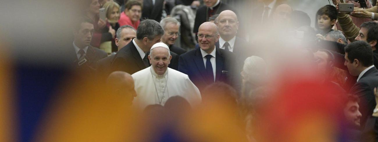 In zijn catechese tijdens de algemene audiëntie van woensdag 30 januari 2019 blikte paus Franciscus uitvoerig terug op de Wereldjongerendagen © VaticanMedia