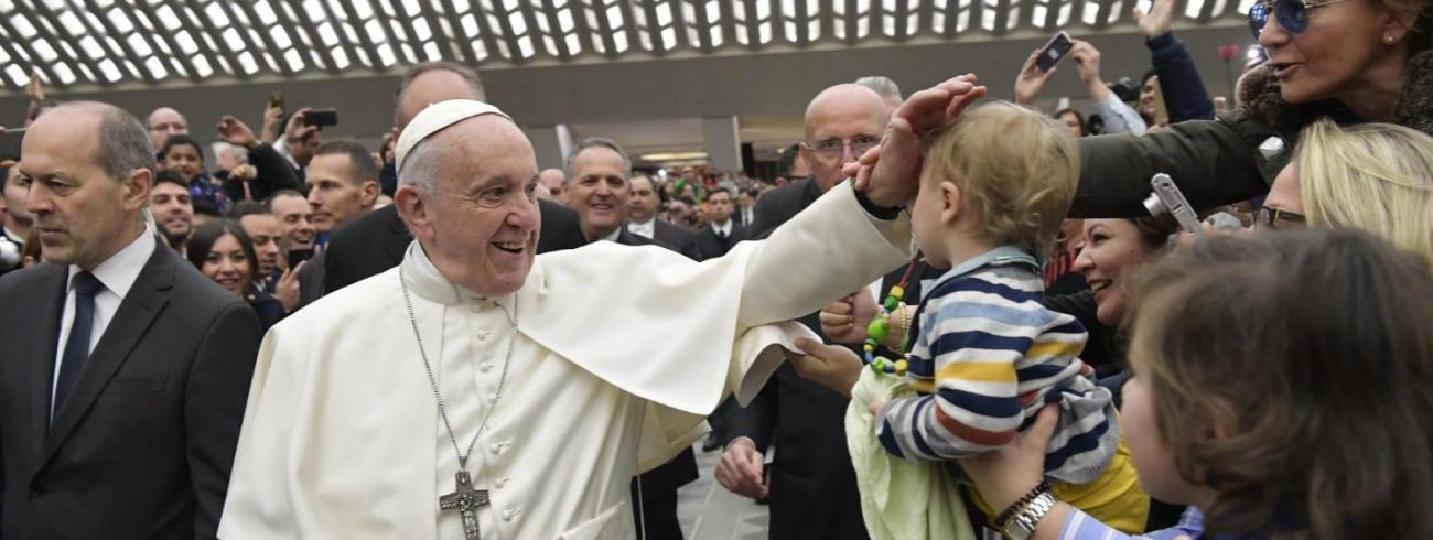 Paus Franciscus tijdens de algemene audiëntie van woensdag 20 februari 2019 © VaticanMedia