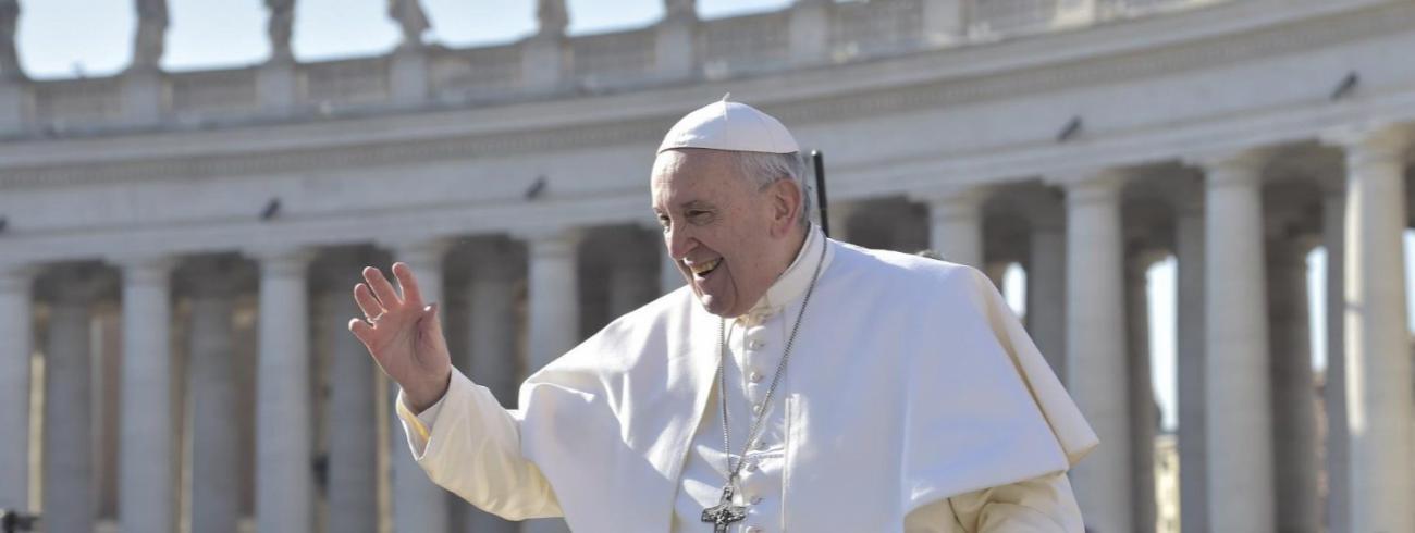 Paus Franciscus tijdens zijn catechese over het Onzevader op de algemene audiëntie op Aswoensdag 6 maart 2019 © VaticanMedia