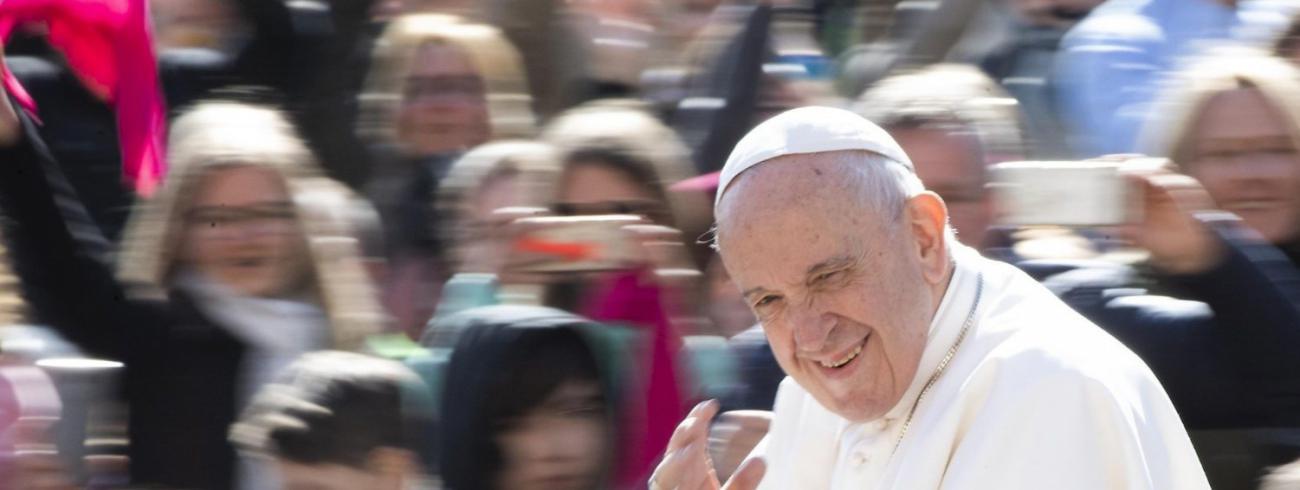 Paus Franciscus tijdens de algemene audiëntie van woensdag 1 mei 2019 © VaticanMedia