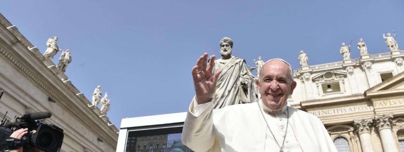 Paus Franciscus tijdens de algemene audiëntie van woensdag 12 juni 2019 © VaticanNews