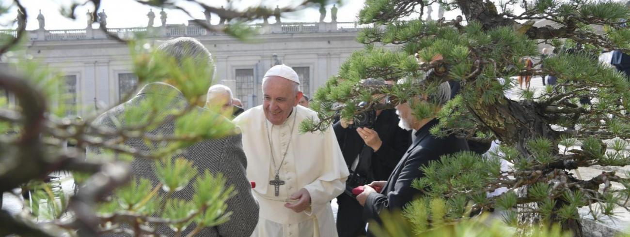 Paus Franciscus tijdens de algemene audiëntie van woensdag 30 oktober 2019 © VaticanMedia