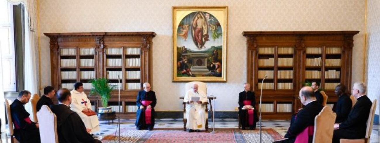 Paus Franciscus tijdens de algemene audiëntie van woensdag 10 juni 2020 © VaticanMedia