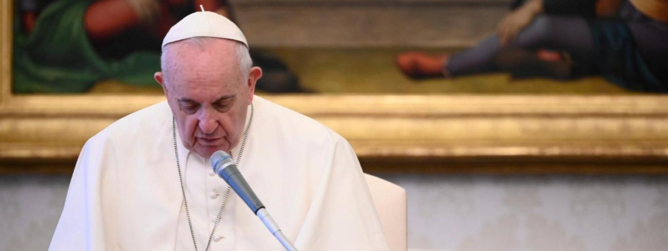Paus Franciscus tijdens de algemene audiëntie van woensdag 24 juni 2020 © VaticanMedia