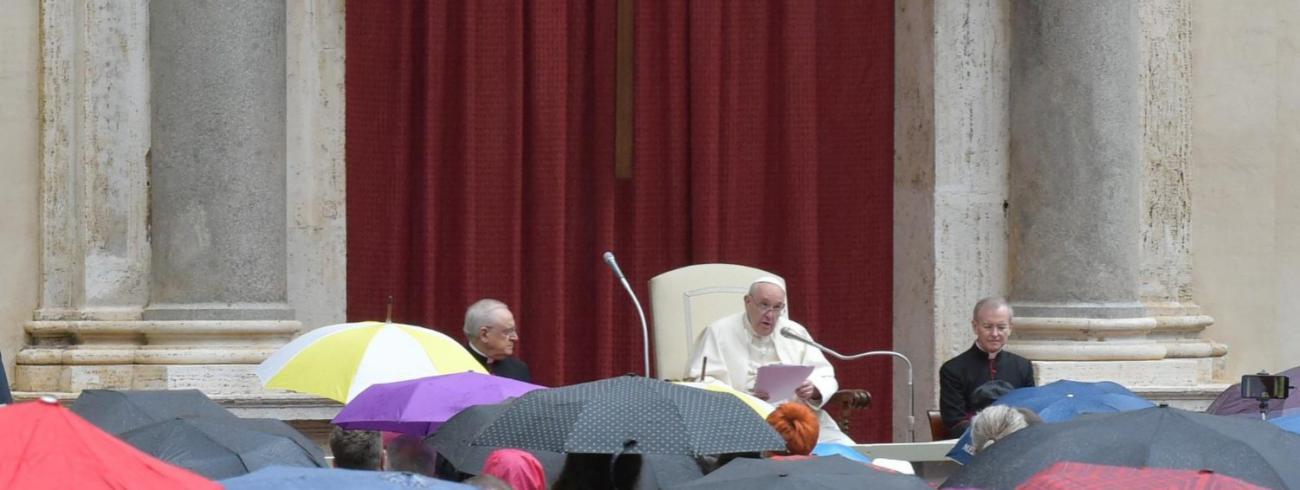 Paus Franciscus tijdens de algemene audiëntie van woensdag 23 september 2020 © VaticanMedia