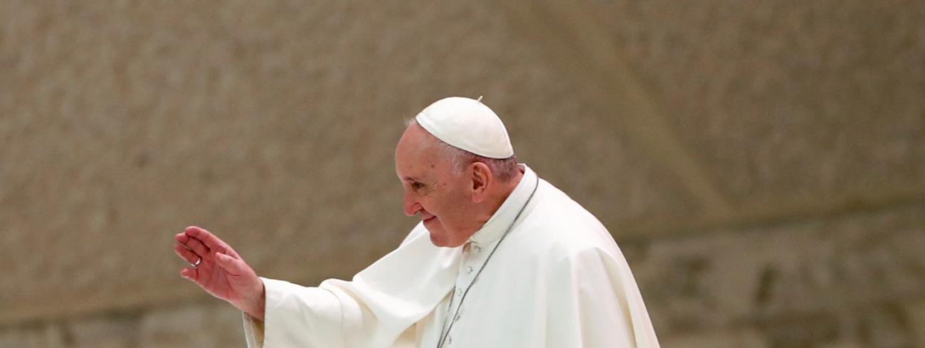 Paus Franciscus tijdens de algemene audiëntie van woensdag 28 oktober 2020 © VaticanMedia