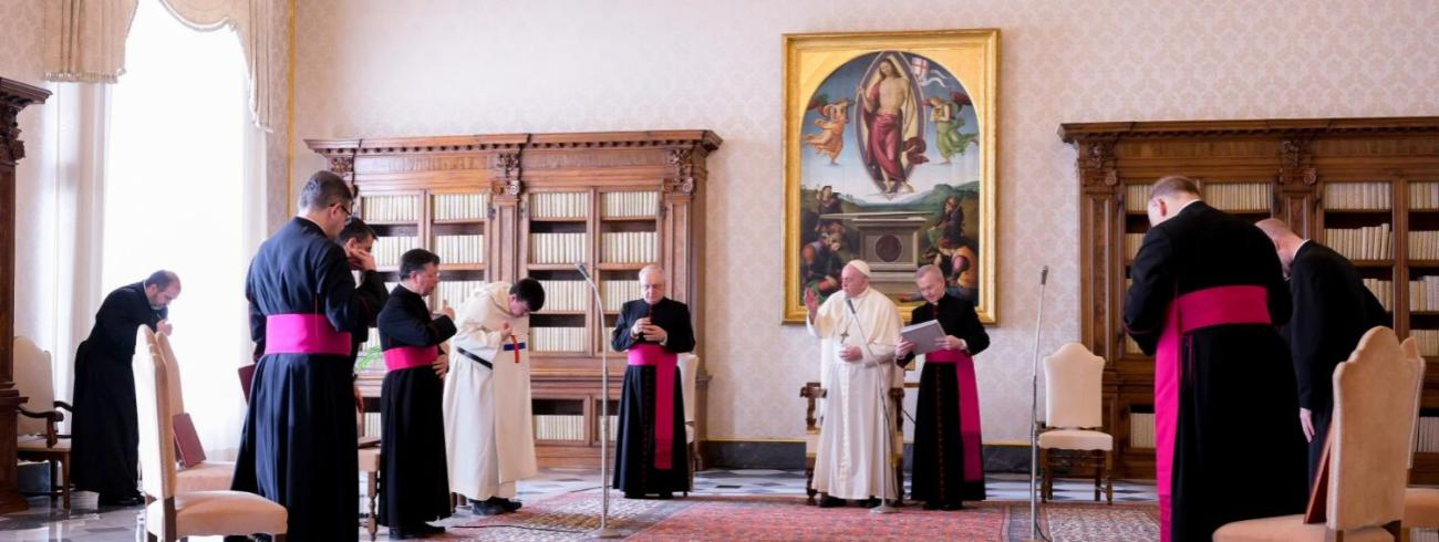 Paus Franciscus tijdens de algemene audiëntie van woensdag 11 november 2020 © VaticanMedia