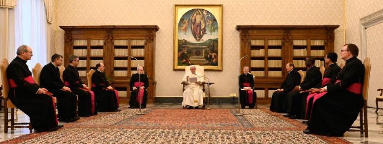 Paus Franciscus tijdens de algemene audiëntie van woensdag 10 februari 2021 © VaticanMedia