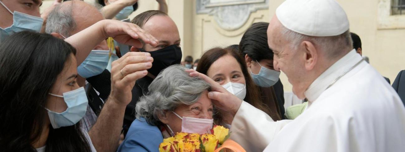 Paus Franciscus tijdens de algemene audiëntie van woensdag 2 juni 2021 © VaticanMedia
