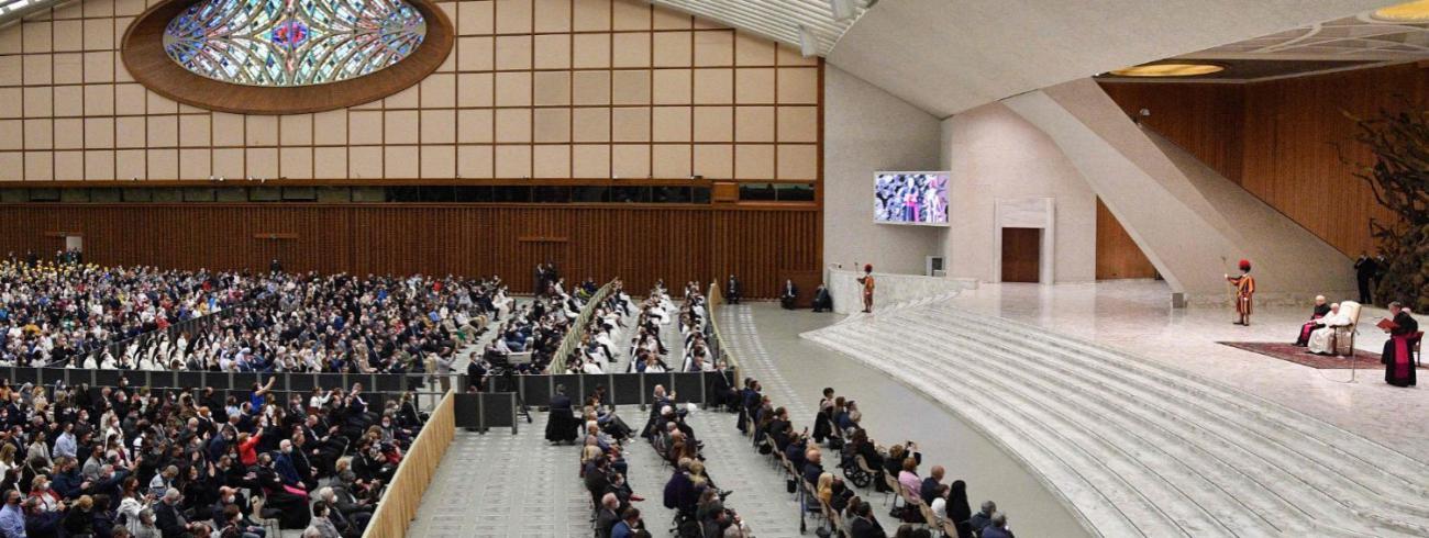 Paus Franciscus tijdens de algemene audiëntie van woensdag 13 oktober 2021 © VaticanMedia