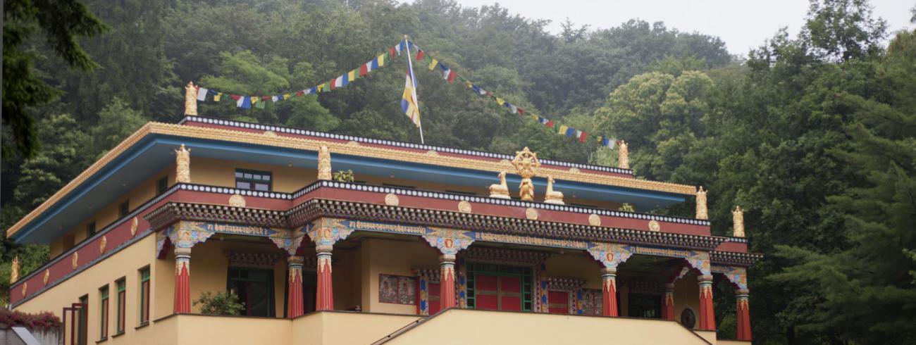De tempel van het Tibetaans Instituut in Huy. © rr