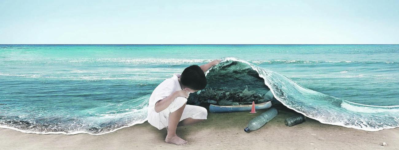 De plasticvervuiling van de oceanen is het centrale thema van de Dag van de Aarde.   © RR