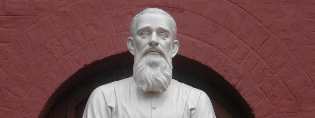 Standbeeld voor jezuïet Kamiel Bulcke in het Indiase Ranchi.   © Idesbald Goddeeris