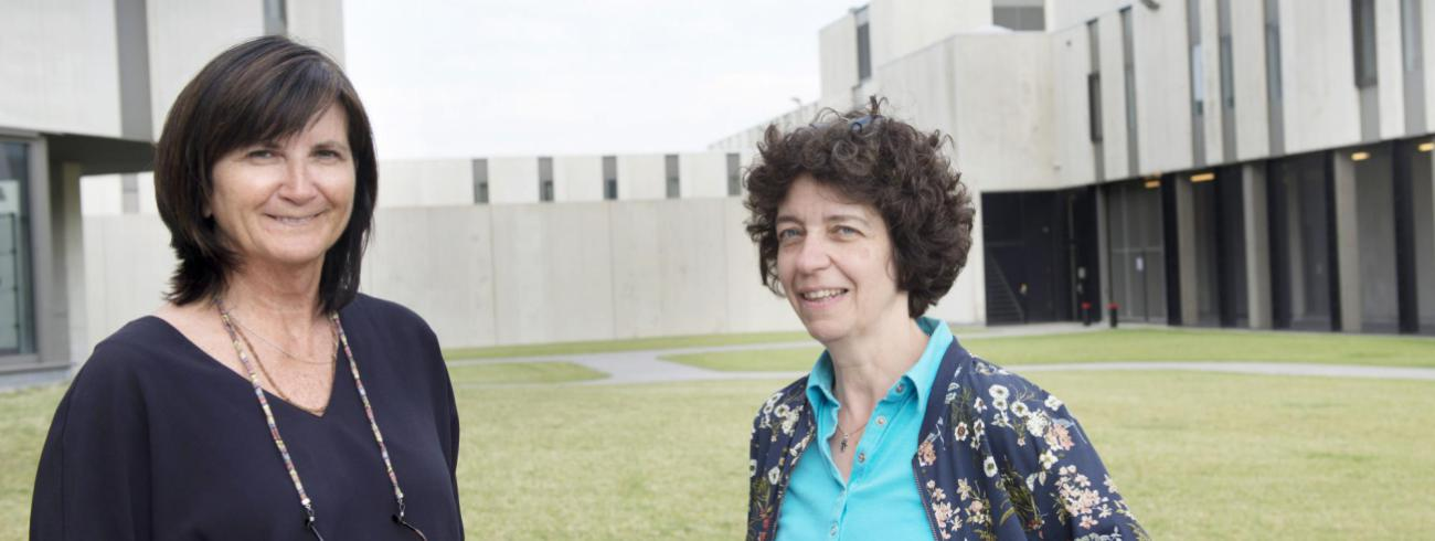 Inge Jeandarme (links) en Pascale Van Hoof (rechts).  © Ilse Prinsen