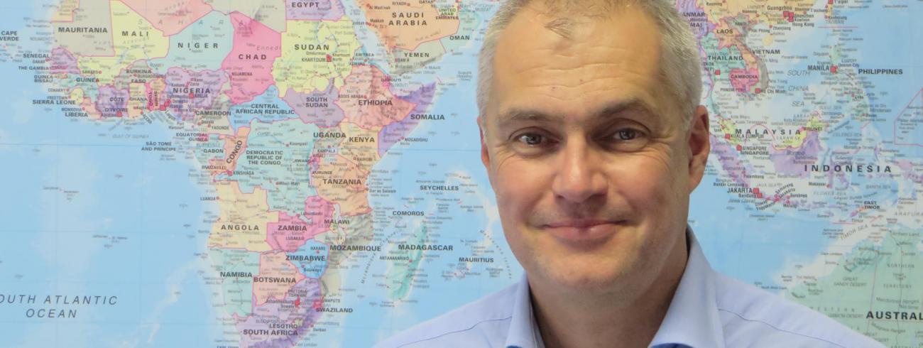 Dominique Burgeon, directeur van de divisie Crisissituaties & Herstel van de Voedsel- & Landbouworganisatie (FAO) van de VN  © Emmanuel Van Lierde