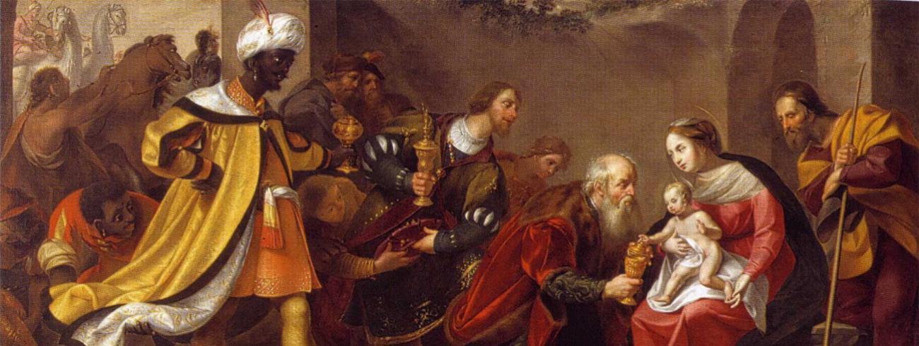 Wouter Pietersz. Crabeth II, Aanbidding der wijzen, Museum Gouda © Wikipedia