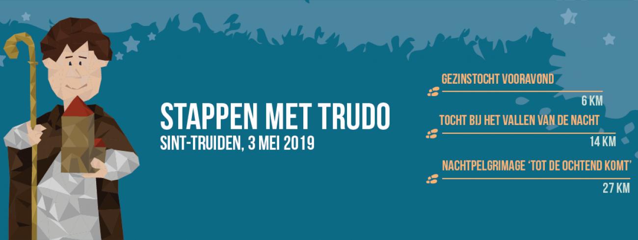 stappen met Trudo banner