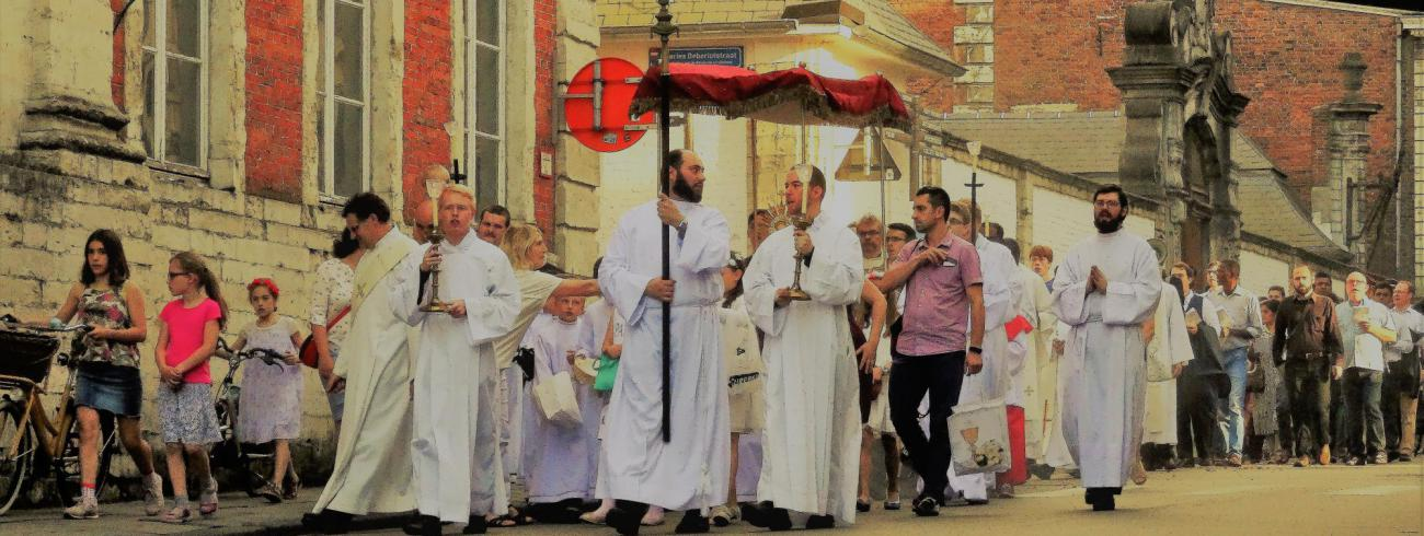 Sacramentsprocessie in Leuven  © Johannes 23 seminarie