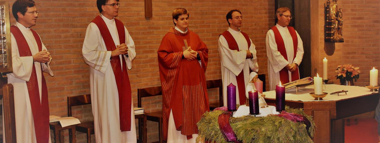 Elia Cantaert en leden van de vormingsploeg  © Johannes 23 seminarie