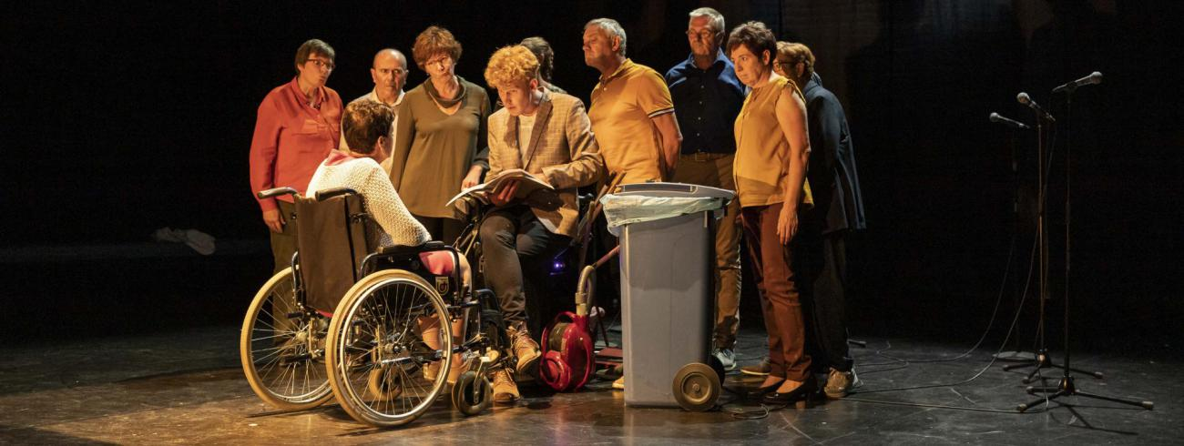 In 'De Loteling' maken acteurs van Het Bataljong theater met mensen met jongdementie.