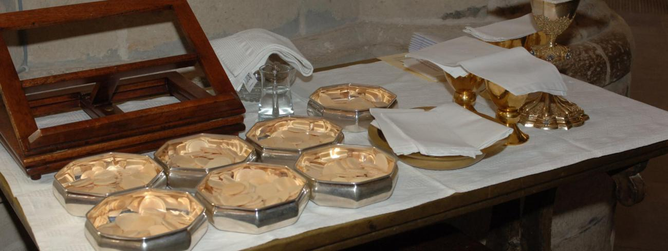 Alles klaar voor de eucharistieviering  © Johannes 23 seminarie