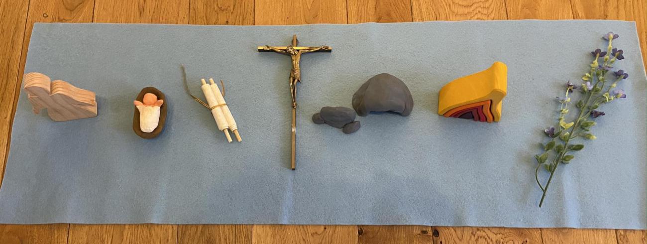 Godly Play - Maria, de moeder van Jezus. © Joke Vermeire