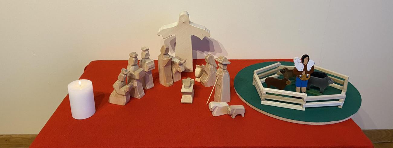 Godly Play - De Heilige Familie op Pinksteren. © Joke Vermeire