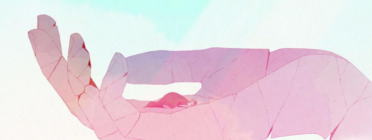 Schermafbeelding uit de videogame 'Gris', over omgaan met kwetsuren. © Nomada Studio