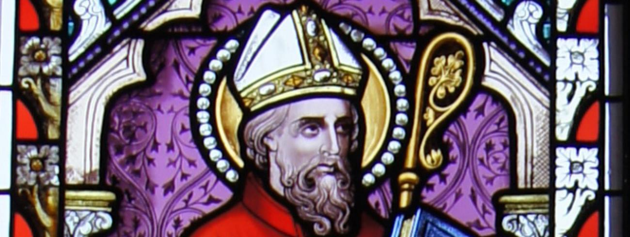 Heilige Augustinus (glasraam Retie) © (c) Foto Frank De Ceulaer