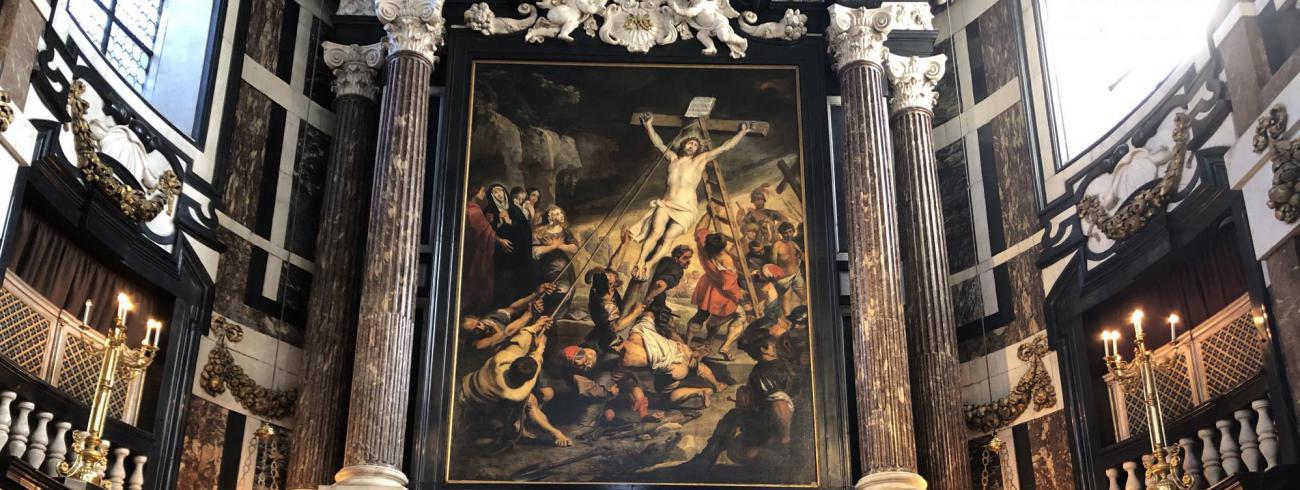 Het altaar van de Sint-Carolus Borromeuskerk © Sint-Carolus Borromeusparochie Antwerpen