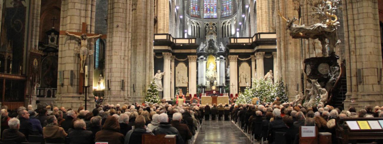 Inhuldiging glasraam Laudato Si' © Bisdom Gent, foto: Ellen Eeckhout
