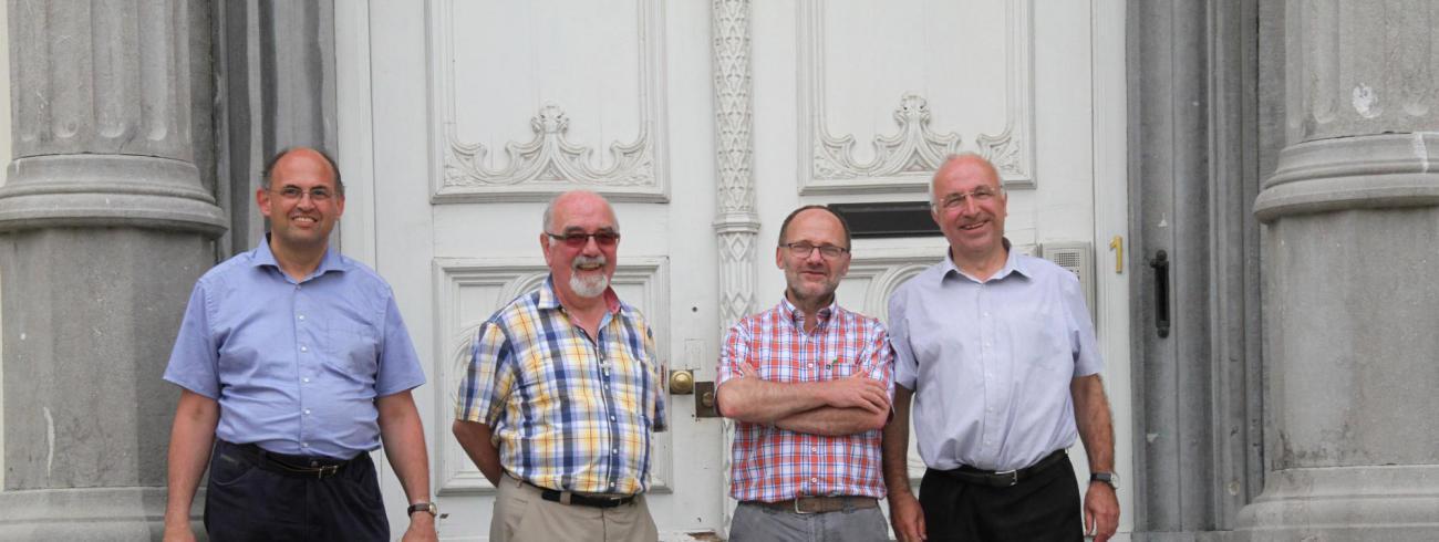 Van l nr r: Yvan Stassijns, Wilfried Van Wilder, Marc Verwaeren, Geert Cattrysse © Bisdom Gent, foto: Ellen Eeckhout