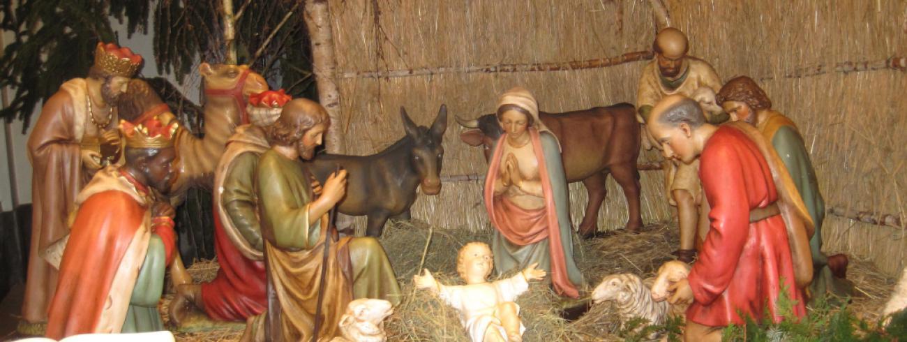 kerststal in de kerk