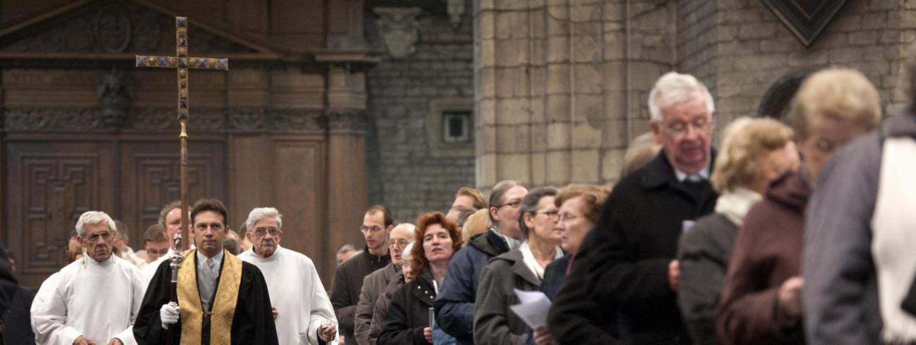 Intredeprocessie. Christus zelf roept ons bijeen. © Sint-Baafskathedraal, Gent