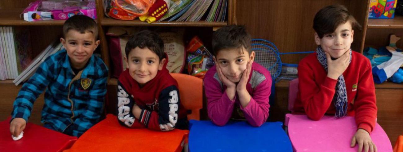 Onderwijs bij kinderen in Aleppo © JRS