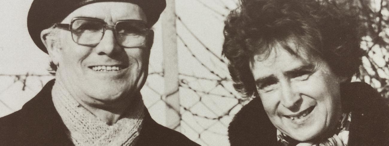Jean en Hildegard Goss-Mayr. © Cover 'Jean Goss. Mysticus en militant voor de vrede'