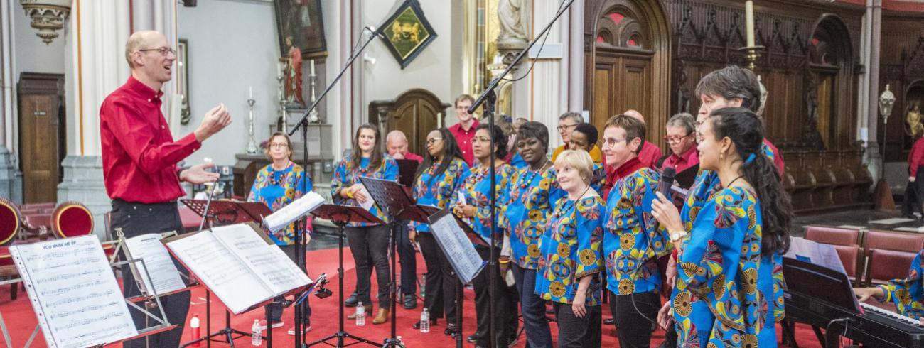 Missionaire kerkdag, koor AMKA © Bisdom Gent, foto: Frank Bahnmuller