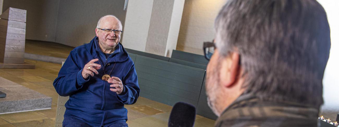 Goedeweek-gesprek met bisschop Lode Van Hecke  © Bisdom Gent, foto: Frank Bahnmüller
