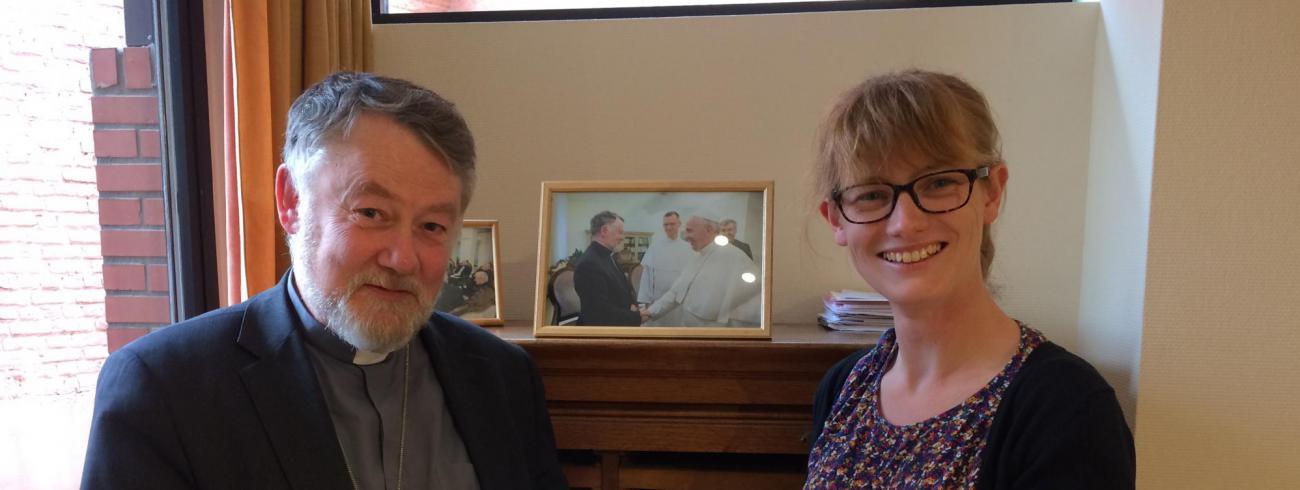 Mgr. Kockerols en Annelien Boone