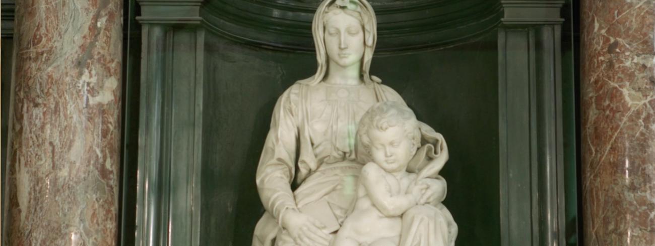 Maria met kind, Onze-Lieve-Vrouwekerk Brugge.
