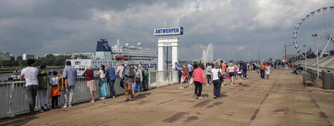 Aankomst van de Global Mercy in Antwerpen © Jonathan Remael/Mercy Ships