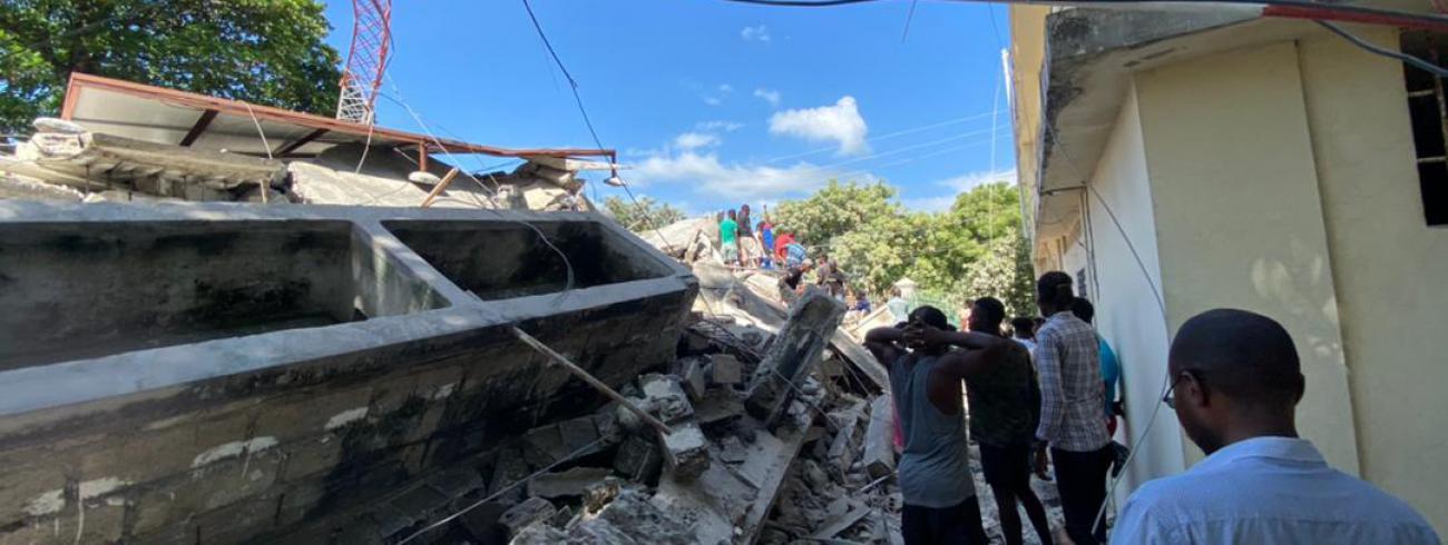 Aardbeving Haïti 2021