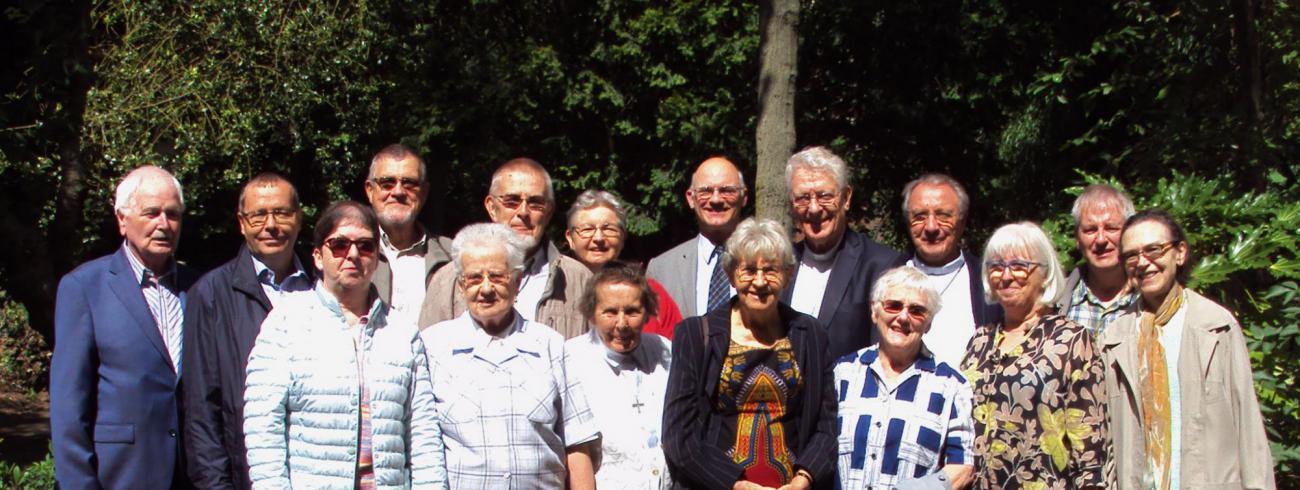 Missionarissen in vakantie op bezoek in het bisschopshuis in Gent op 9 augustus 2017 © Bisdom Gent, foto: Claire-Marie Cloquet