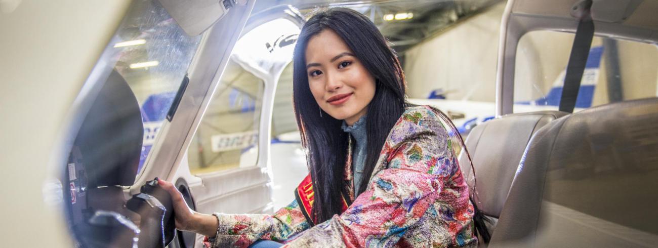 Angeline Flor Pua is vandaag Miss België, maar droomt van de cockpit en een eigen gezin. © Frank Bahnmüller