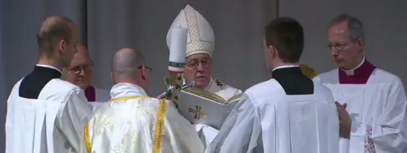 Paaswake met paus Franciscus © Vatican Media