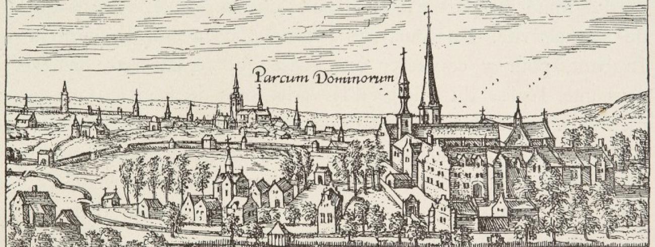 De naam voor het nieuwe museum werd ontleend aan de historische benaming van de Abdij van Park. - Prent naar een gravure van Jan Baptist Gramaye, 1610 © Abdij van Park