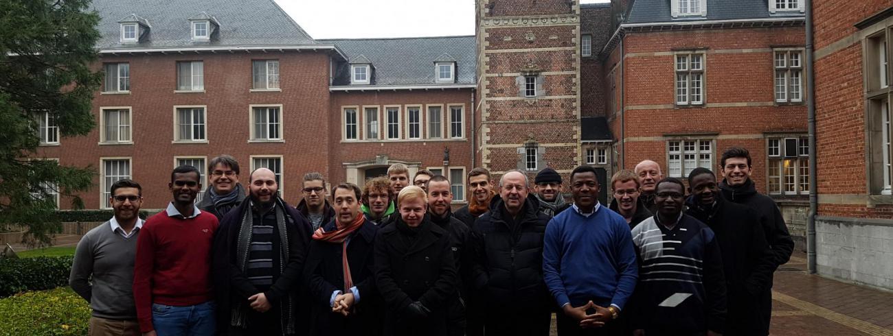 Vlaamse seminaristen groepsfoto