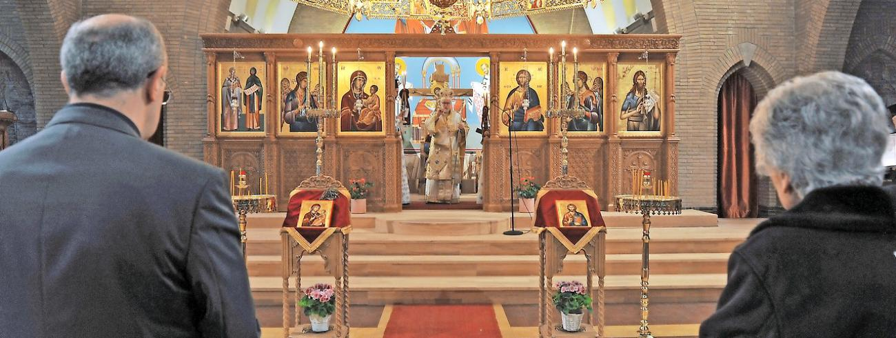 Sinds kort is de voormalige Sint-Godelievekerk in Oostende een orthodoxe kerk. © Els Verhaeghe